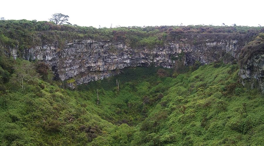 Extinct volcano of Santa Cruz